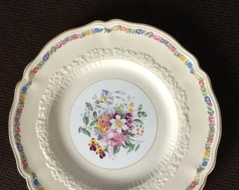 Rare Vintage Johnson Brothers England Dubarry Discountinued China 10 Inch Plate