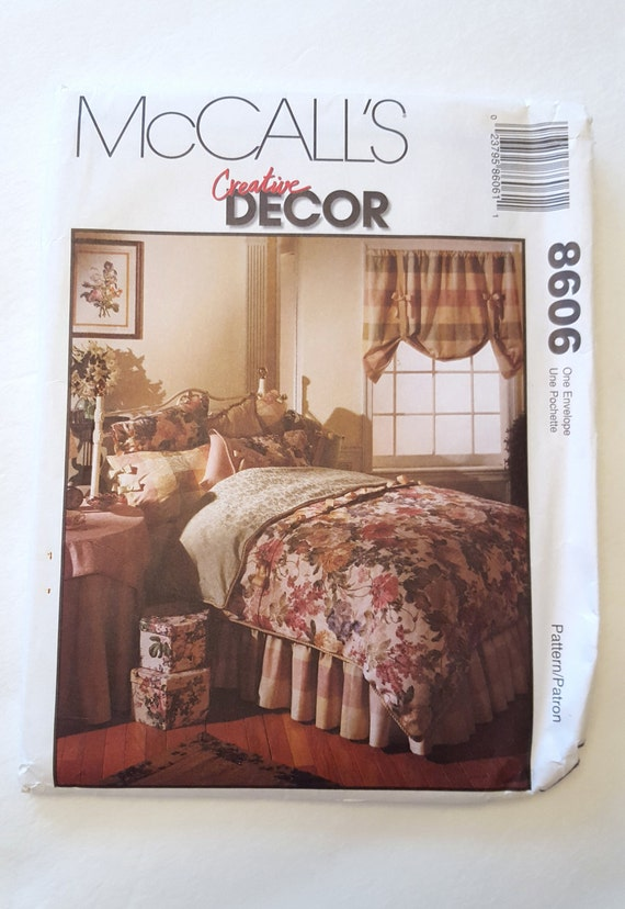 Bedroom essentials decor pattern and instructions mccall for Bedroom necessities