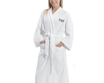 Personalized Embroidered Initials Bathrobe