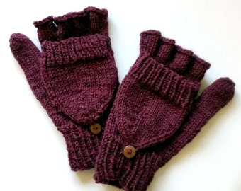 Convertible Wool Fingerless Mittens for Women (ADDITIONAL COLORS!)