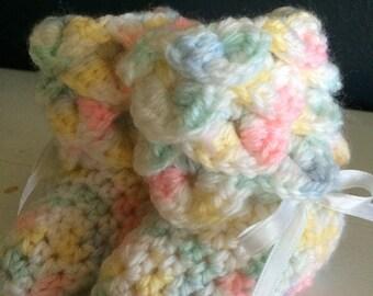 Crococile Crocheted Baby Booties
