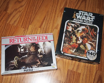 Two Star Wars Puzzles Jabba the Hut and Trapped in the Trash Compactor