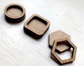 Set of 6. 20mm Bezels Choose from 4 shapes Laser Cut Wooden Supplies