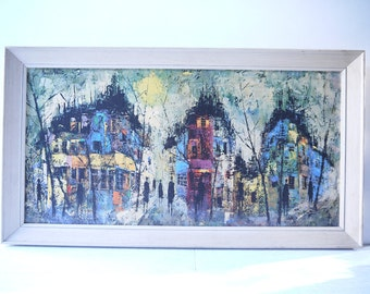 Mid Century Art Print - Nocturne - Maurille Prevost (France)