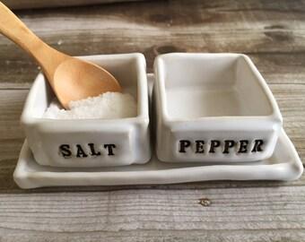 Salt & Pepper Pinch Bowl Set with spoon
