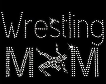 Rhinestone Transfers - Hot Fix Motif - Wrestling Mom 1