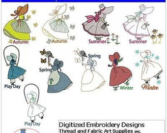 Embroidery Design CD - Tea Towels Days(1) - 14 Designs - 9 Formats - Threadart