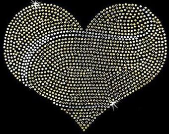 Rhinestone Transfer - Hot Fix Motif - Tennis Heart