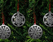 Decorations for Christmas Tree Snowflakes Set of 4