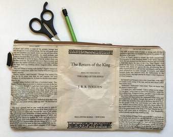 Tolkien Book Themed Vinyl Clutch Pouch - Extra Large