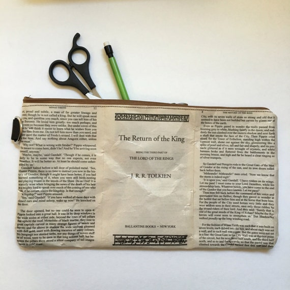 Lord of the Rings Book Themed Vinyl Clutch Pouch - Extra Large