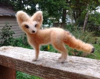 Needle felted Fennec fox
