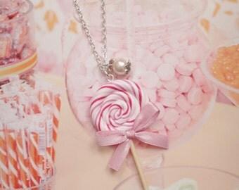 necklace pink lollipop