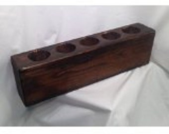 Sugar Mold Antique Reproduction Wooden 5 Holes Candle Craft Primitive