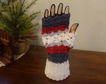 OSU Colors!!  Fingerless Gloves - Handwarmer