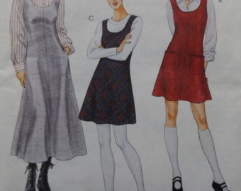 Misses' Slightly A-Line Jumper with Pockets in Two Lengths in Sizes 12 to 16 All 8 Uncut/FF Pieces McCall's Sewing Pattern 7885