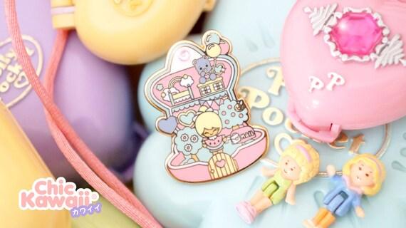 Enamel pin polly pocket style chic kawaii magic pastel kawaii cute pins