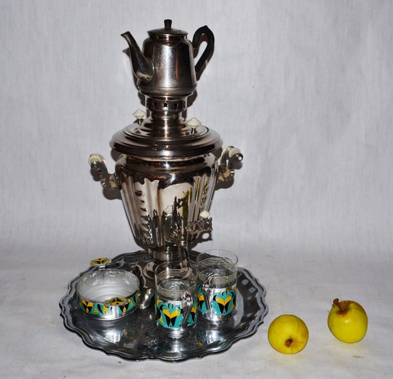 Large Soviet Russian Samovar Working Electric Metal Tea