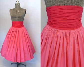 50s Skirt / 1950s Skirt / High Waist Skirt / Full Skirt / Circle Skirt / 50s Circle Skirt / 1950s Circle Skirt / New Look Skirt