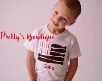 Boys Baseball Shirt - Boy Baseball Shirt - Toddler Boy Sports Shirt - Baby Boy personalized shirt- baby boy clothes- Birthday Gift