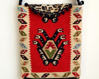Handmade made carpet Moroccan style bag