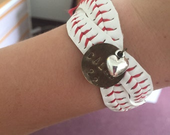 Crossed Baseball Bracelet