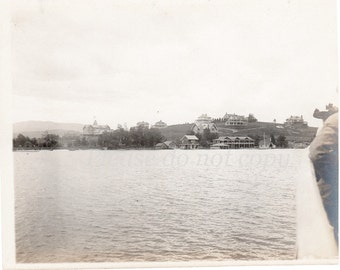 Antique Photo ~   Lake Placid NY ~ Vintage Photograph ~  Adirondacks