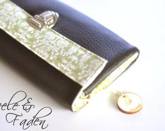 """Wallet / purse XL """"green rose"""""""