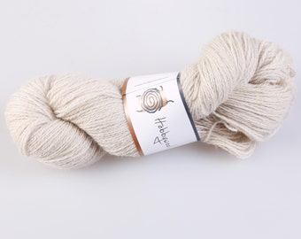 100% wool yarn for knitting, crochet, craft supplies, 2 ply, white, 100 g