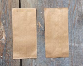 Kraft paper bags 10 x 15 cm 8 sachets small envelopes, Havana-brown color