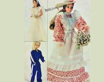 Vintage Barbie Clothes Pattern / UNCUT Butterick 4687 Barbie Patterns / 80s Barbie Doll Clothes Pattern / Vintage Doll Sewing Patterns