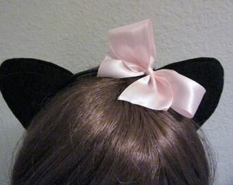 Cat Ears, Black Cat Ears, Kitty Ears, Cat Ears Headband, Black Felt Cat Ears, Multiple Discounts
