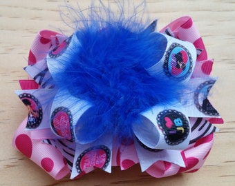 Justin Bieber Hair Bow / Stacked / OTT /Feather Boa / 4 1/2  Inches
