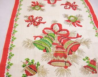 Vintage Christmas Tea Towel