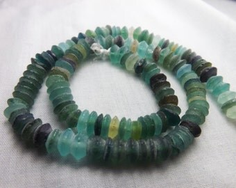 Rare Ancient Roman Glass Beads Roundelles 1000-1500 Yrs Old RG17