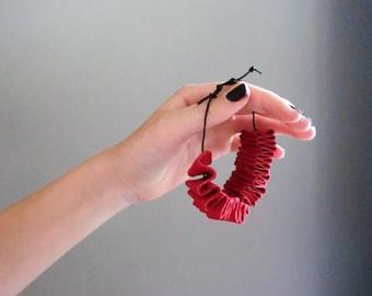 Eco leather bracelet non-allergic Italian recycled leather bracelet, non-allergic jewels, natural gift for her. From JJePa