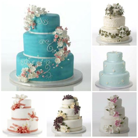 Complete Cake Kit Decorations for Weddings or Birthdays