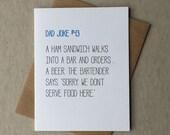 Letterpress dad joke card #43 (#DAD043)