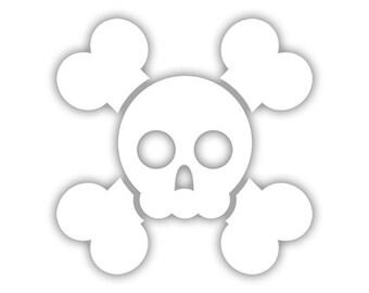 Skull n Crossbones decal