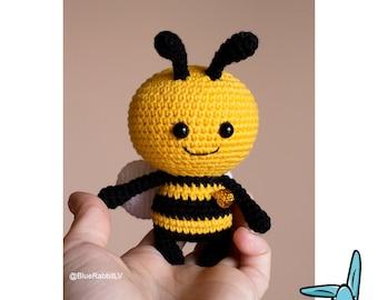 Honey bee. .PDF file amigurumi crochet pattern. DIY handmade toy. ENG