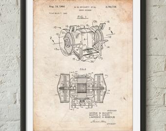 Bench Grinder Patent Poster, Metal Work, Dad Gifts, Garage Art, Man Cave, PP0733