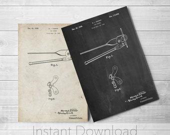 Can Opener Printables, Kitchen Wall Art, Restaurant Decor, Farmhouse, Vintage Kitchen Appliances, PP0677