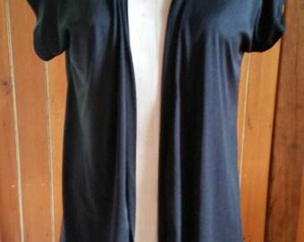 Vintage black nylon Jantzen swim robe size 14