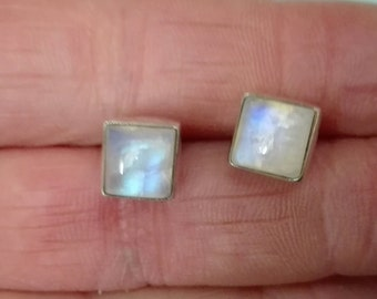 925 Sterling silver earrings and moonstone
