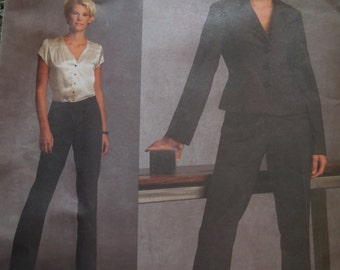 Vogue V1041, UNCUT sewing pattern, craft supplies, petite, misses, womens, lined jacket and lined pants