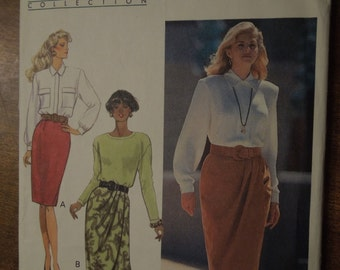 Butterick 5056, Sizes 12-16, misses, womens, UNCUT sewing pattern, craft supplies, skirt with/without mock wrap front