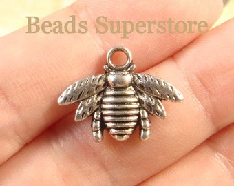 SALE 21 mm x 16 mm Antique Silver Bee Charm / Pendant - Nickel Free, Lead Free and Cadmium Free - 10 pcs (CH162)