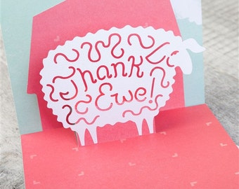 Clever Thank Ewe Card