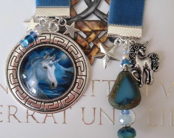 Velvet Bookmark  Unicorn Mythology