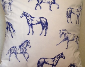 Joules **HAND DRAWN HORSE**  Cushion Cover 40cm